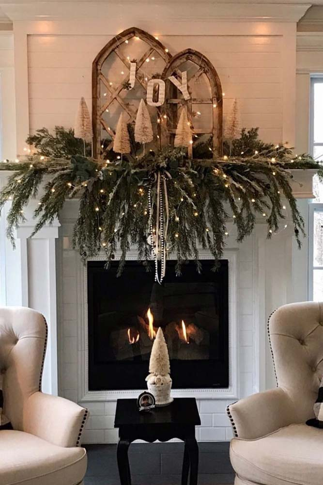 Simple Greenery Decorations With Led Lights #ledlights