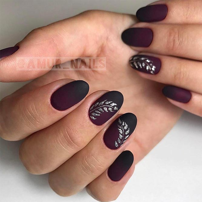 Dark Ombre Nails