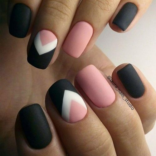 Pretty Geometric Nail Art