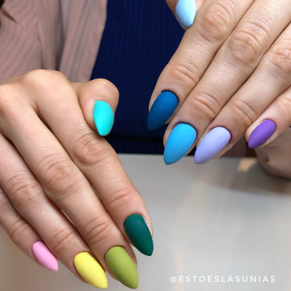 Colorful Nail Art Design #colorfulnails #nailart