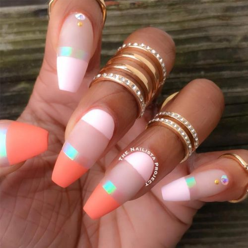 Colorful French Tip Nail Design