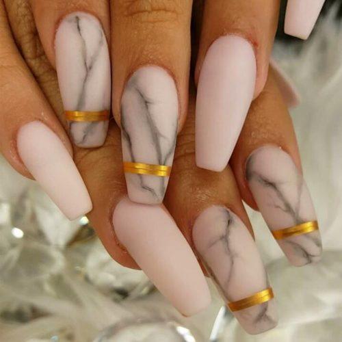 Matte Marble Nail Art
