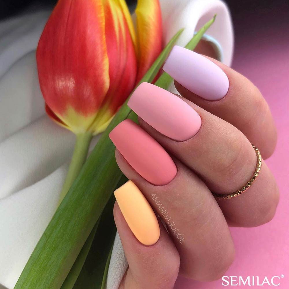Pastel Colorful Nail Art #pastelnails #simplenails