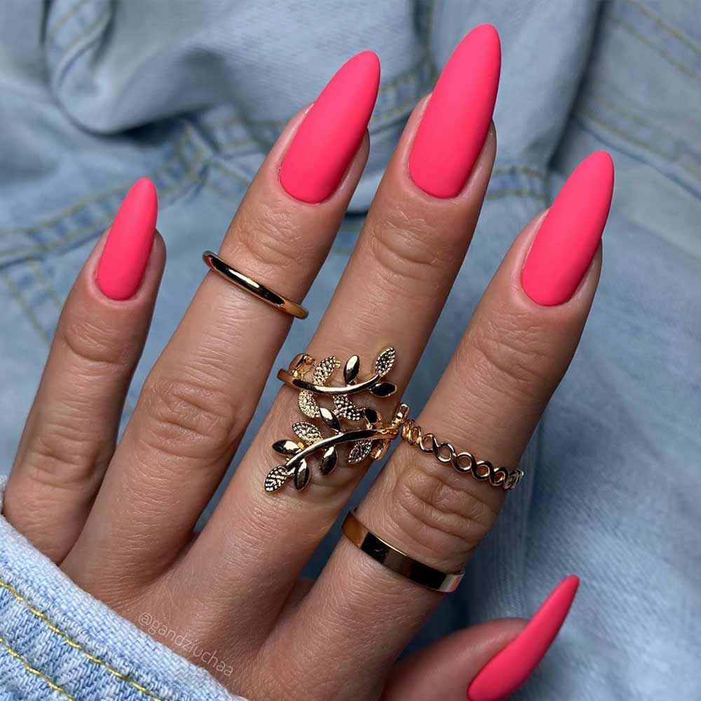 How Do You Get Matte Nails? #pinknails #mattenailart