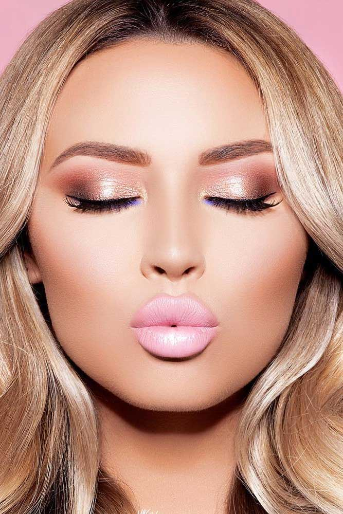Light Shimmer Rose Gold Makeup Looks picture 1