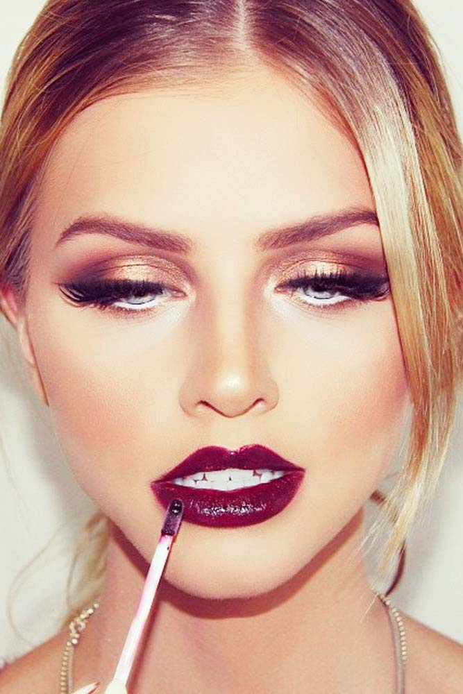 Glitter Rose Gold Makeup Ideas picture 6