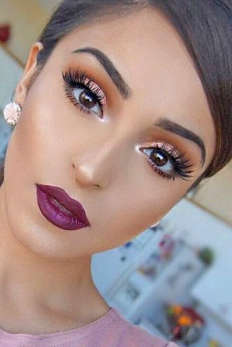 Glamorous Rose Gold Makeup Looks pictyre 4