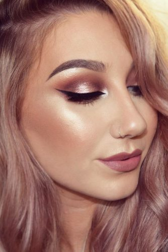 Light Shimmer Rose Gold Makeup Looks picture 2