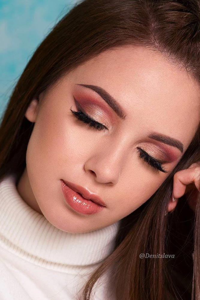 Glamorous Rose Gold Makeup Looks picture 6