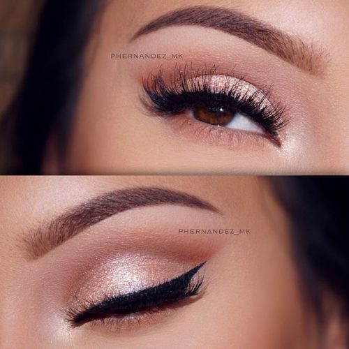 Charming Rose Gold Eye Makeup Ideas picture 1