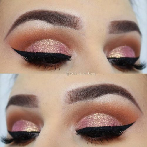 Rose Gold Cut Crease Idea #cutcrease