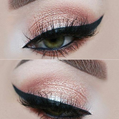 Charming Rose Gold Eye Makeup Ideas picture 2
