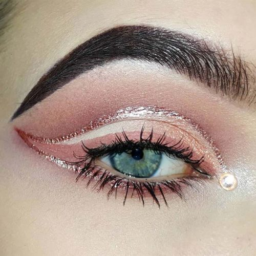 Rose Gold Eyeliner #glitterline