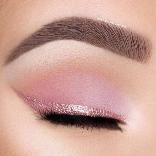 Matte Shadow With Glitter Line #glitterline