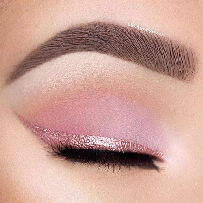 Matte Shadow With Glitter Line #glitterline