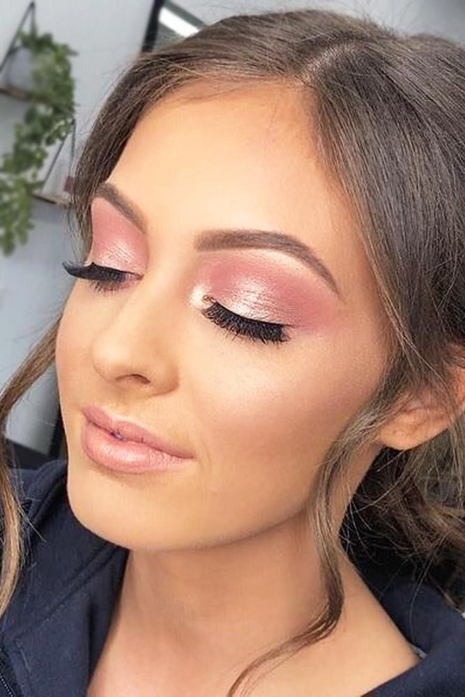 Pink Glitter Shadow With Natural Lips #naturallips