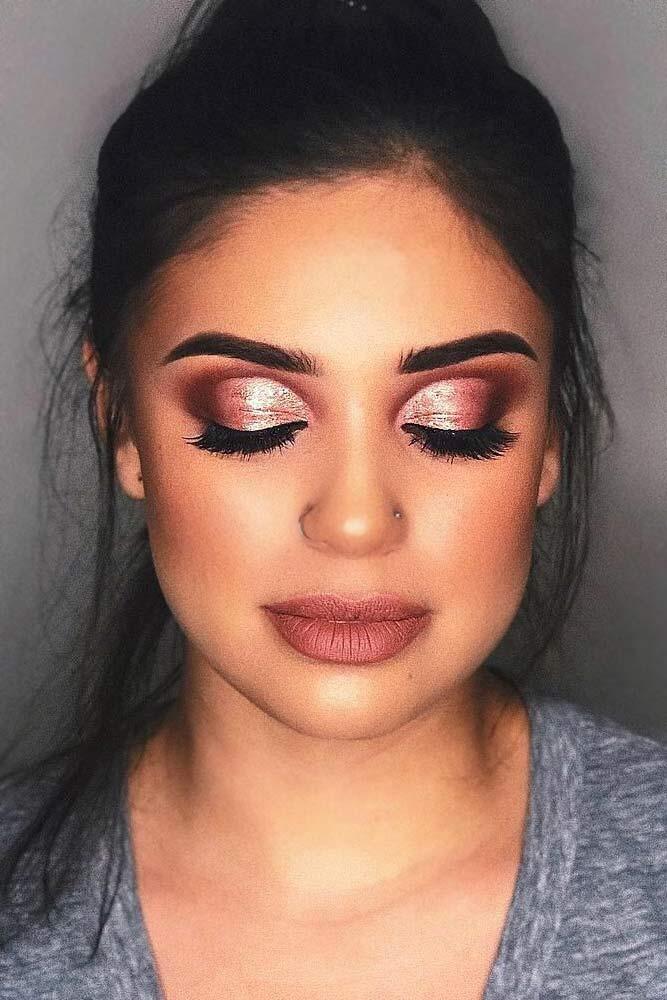 Glitter Smokey Eyes With Matte Lipstick #mattelipstick #shimmershadow