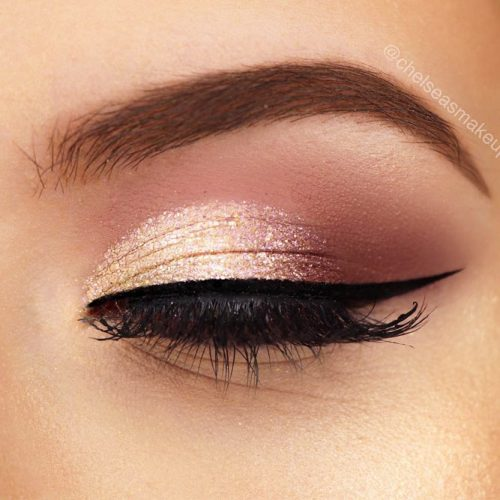 Rose Gold Ombre Idea #eyesmakeup #ombre