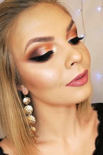 Soft Rose Gold Smokey Eyes #naturallips