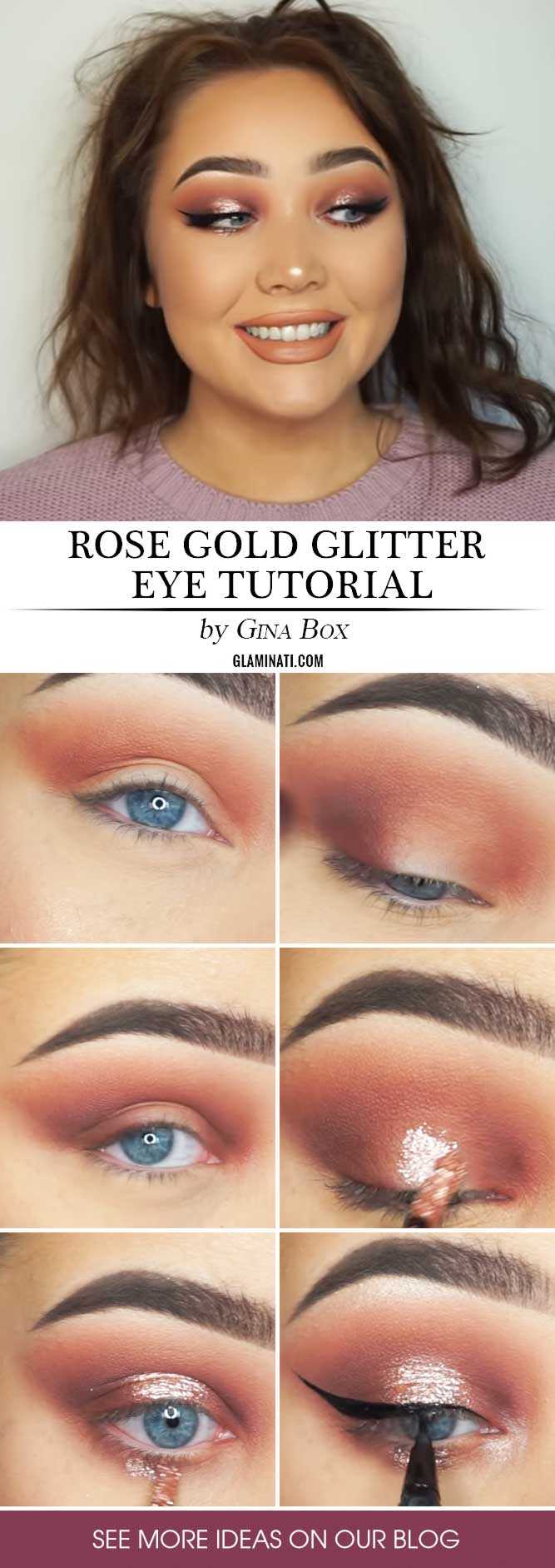 Rose Gold Makeup Tutorial #rosegoldsmokey #makeuptutorial