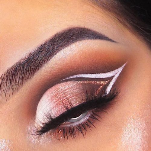 Shimmer Eyeshadow With Eyeliner #glitterline