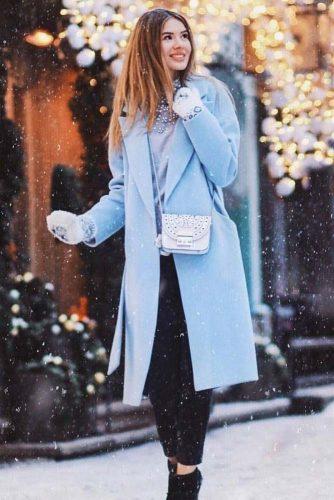Blue Winter With Belt #bluecoat #belt