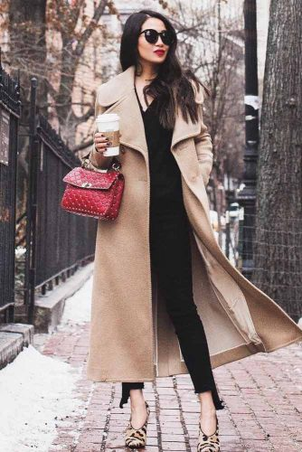Maxi Beige Winter Coat #maxicoat #beigecoat