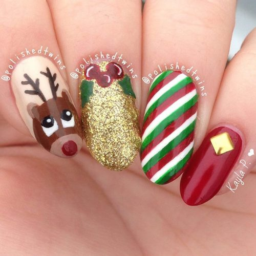 6 Christmas Nail Art Designs
