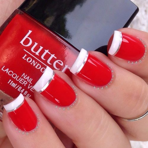 Christmas Nails Red And White: The Collection Of Red, Gold And White Christmas Nail Art Ideas