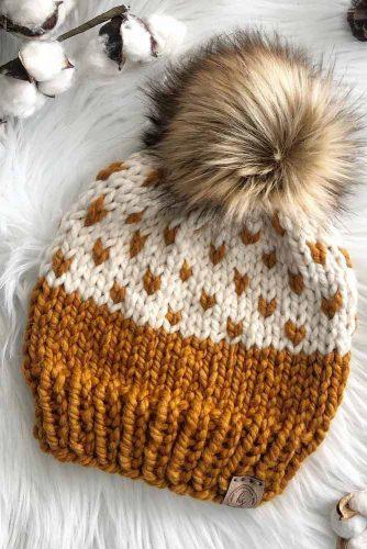 Cute Winter Hat #knittinghat
