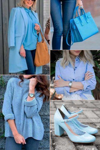 Baby Blue Color Trend #outfit #fashion