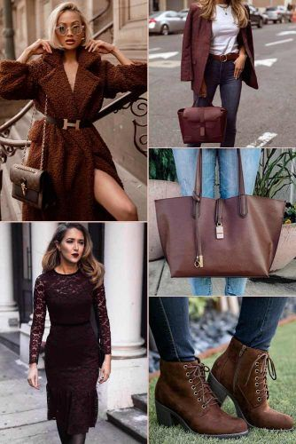 Dark Chocolate Color Trend #outfit #fashion