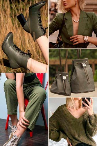 Olive Color Trend #outfit #fashion