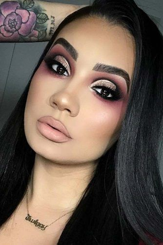 Shimmer Cut Crease Makeup Idea #cutcrease #shimmershadow