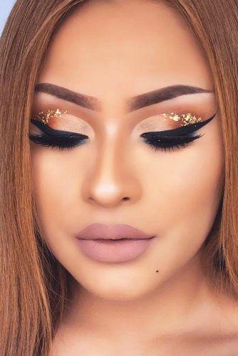 Cut Crease With Gold Glitter #goldglitter