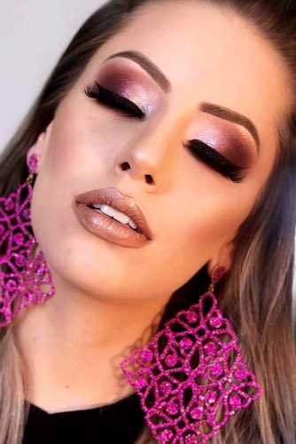 Popular Makeup Ideas with Glitter Shadows picture 2