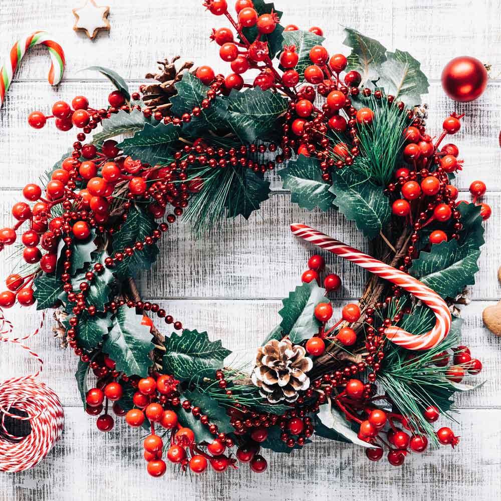 Christmas Door Wreath Decor