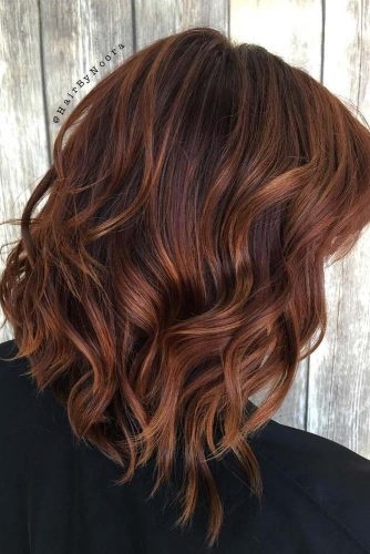 Chestnut Hair with Soft Curls