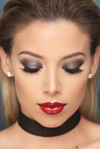 Amazing Glitter Christmas Makeup Ideas