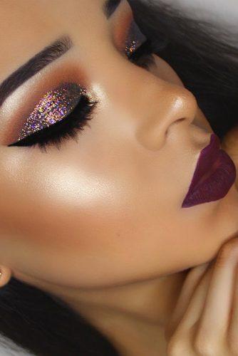 6 Amazing Glitter Christmas Makeup Ideas
