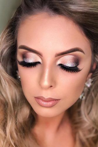 Cut Crease With Silver Glitter Accent #glitterline