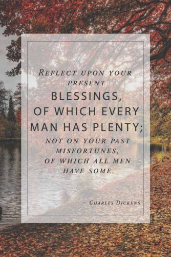 Charles Dickens About Blessings #inspirationalquotes #thanksgivingquotes