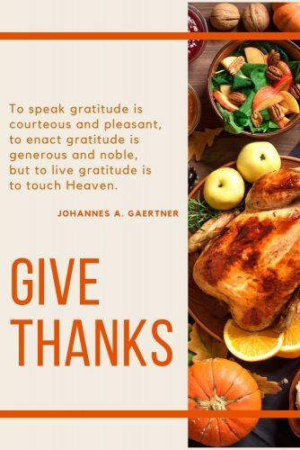 Johannes A. Gaertner Thanksgiving Quotes #quotes #thanksgiving