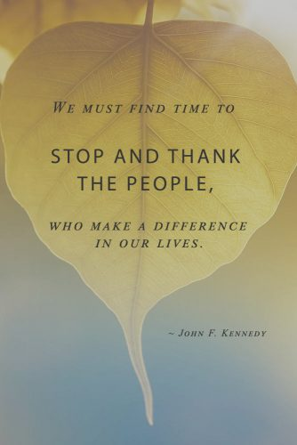 John F. Kennedy Quote About Thankful #inspirationalquotes #thanksgivingquotes