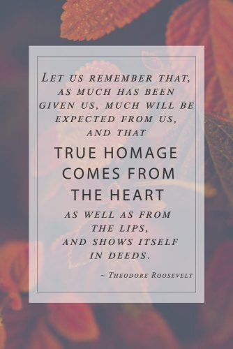 Theodore Roosevelt Thanksgiving Quotes #inspirationalquotes #thanksgivingquotes