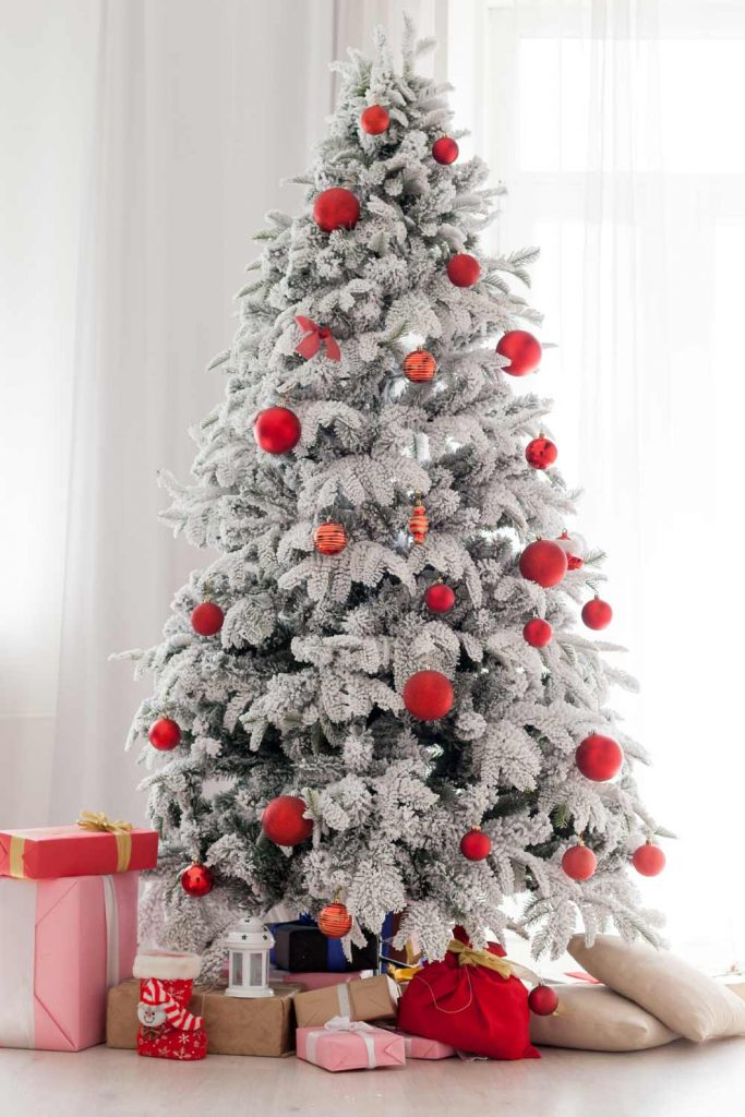Christmas Tree with Red Toys