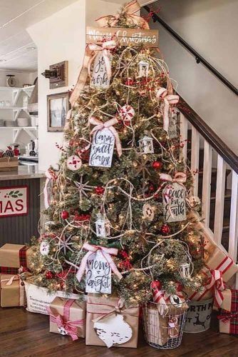 Rustic Christmas Tree Decorations #rustic