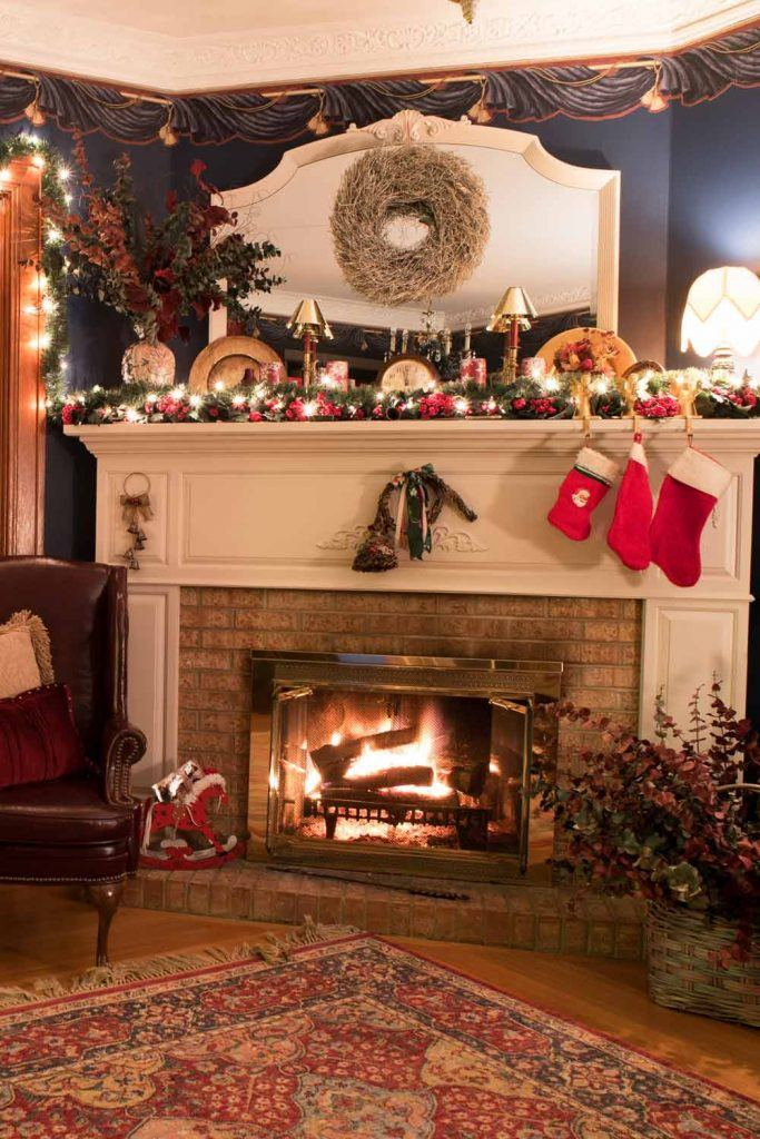 Garland Fireplace Decoration