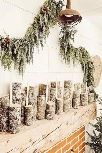 Simple Rustic Garland #wood #rustic