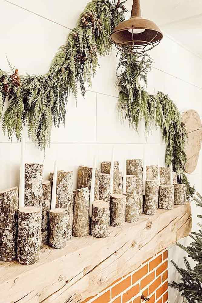 Simple Rustic Garland #wood #rustic
